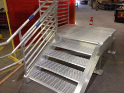 metal fabrication for industrial stairs and platform