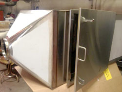 industrial construction of filter box in stainless steel